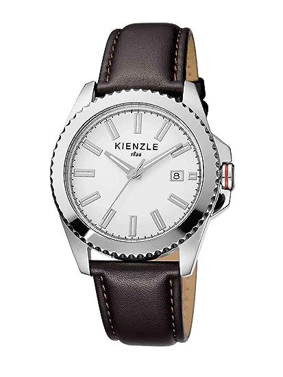 Kienzle K3061011021-00073 - Reloj analógico de cuarzo para hombre con correa de piel, color negro: Amazon.es: Relojes