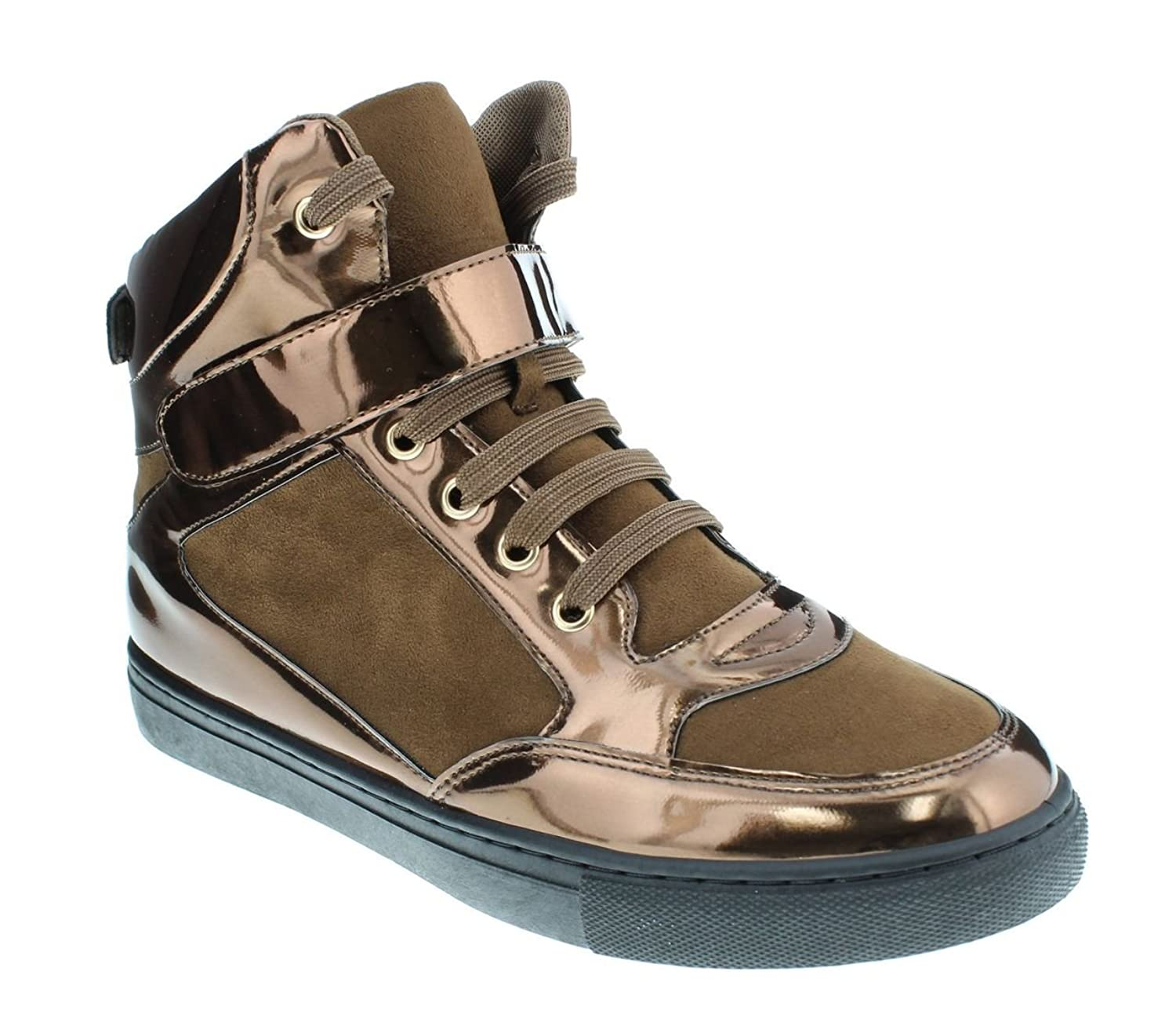 549b8cc1473e Moca Sneaker-02 Women's Casual Faux Leather High Top Sneaker ...