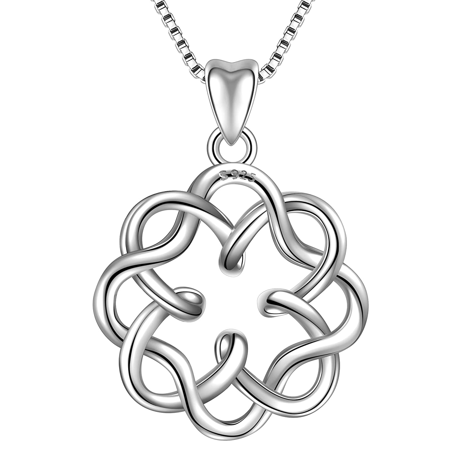 Amazon angemiel 925 sterling silver irish infinity endless amazon angemiel 925 sterling silver irish infinity endless love celtic knot vintage pendant necklace box chain 18 jewelry biocorpaavc Images