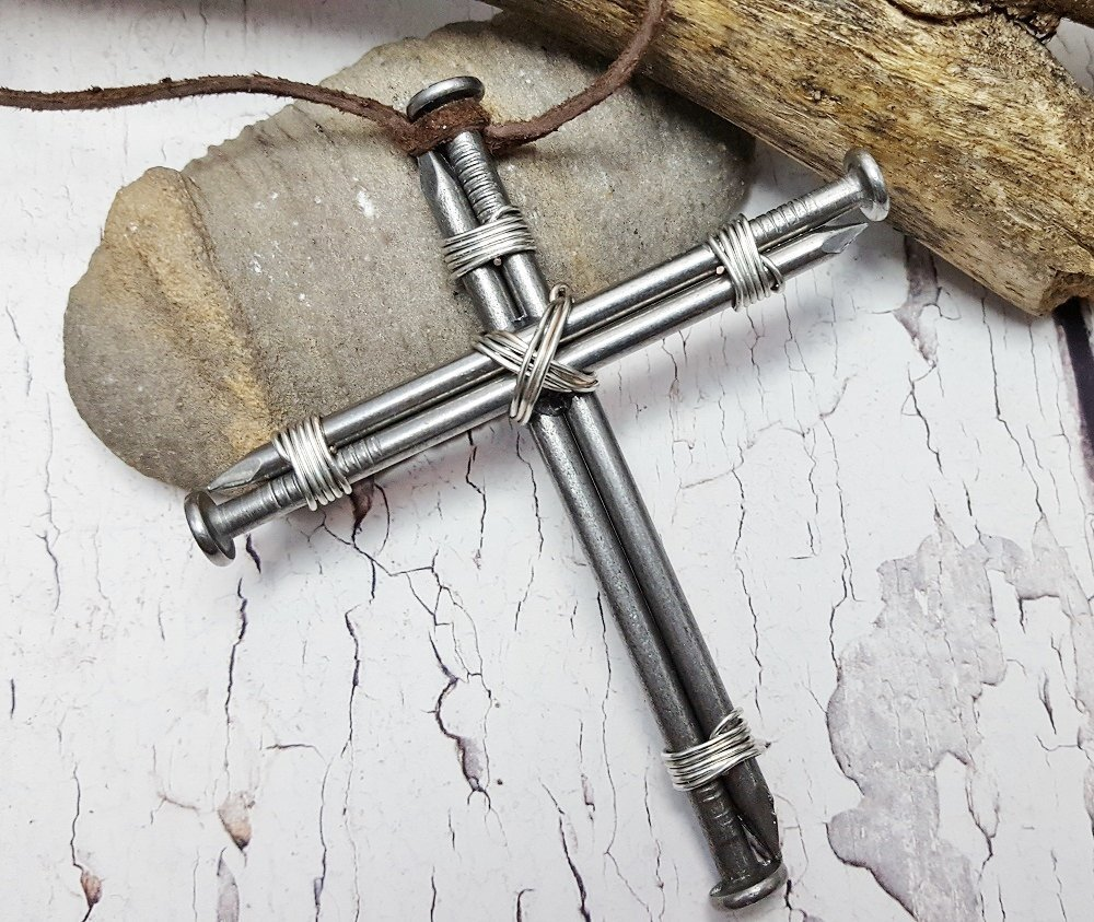 Amazon Rustic Mans Cross 11th Anniversary Going Away Present Birthday Gifts For Papa College Student Gift Best Under 50