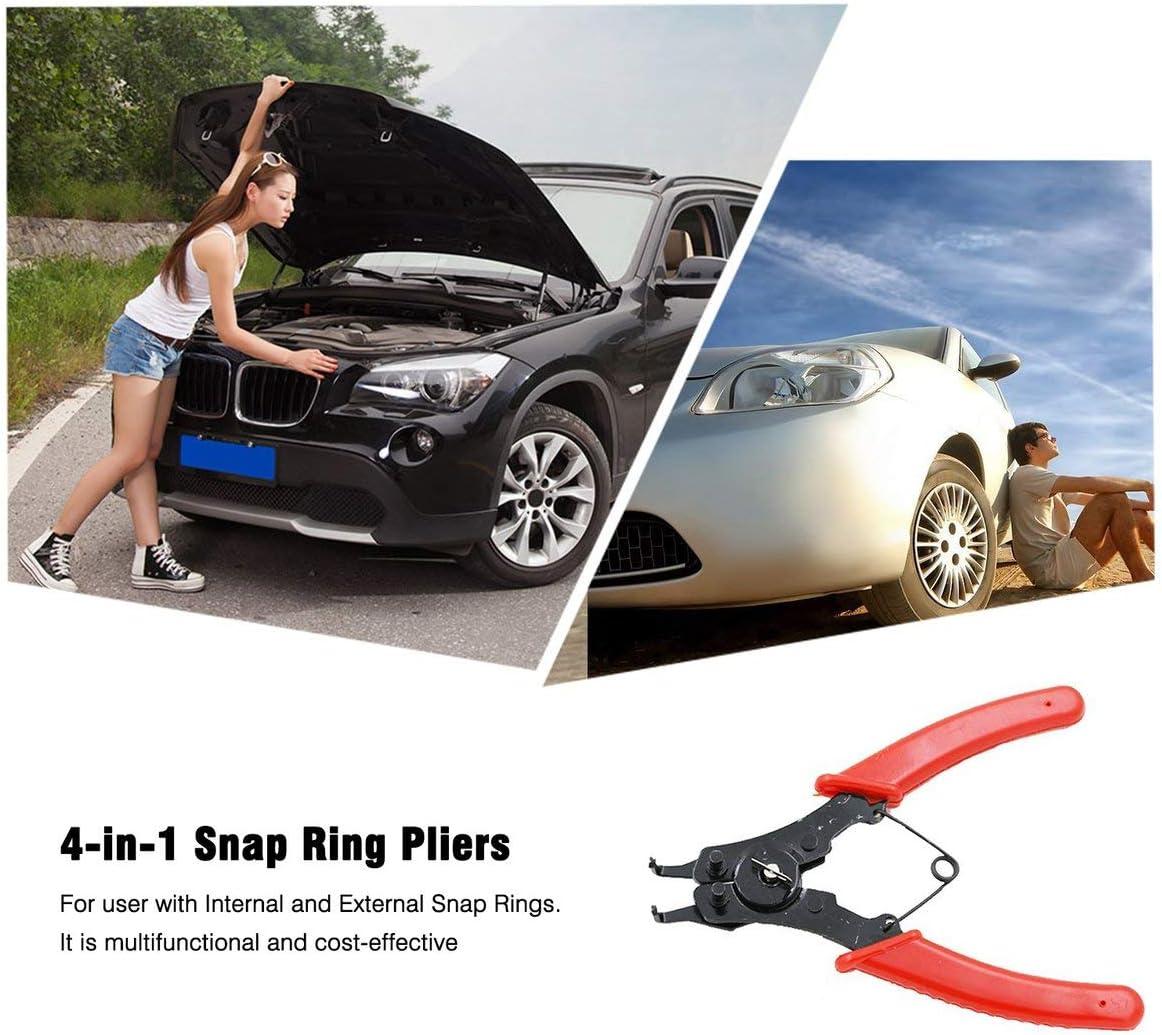 Kongqiabona 4-en-1 Snap Ring Alicates Alicates Set DIY Circlip Combinaci/ón Clip de retenci/ón Clip de la joyer/ía Alicates Circlip Internal External Ring Remover