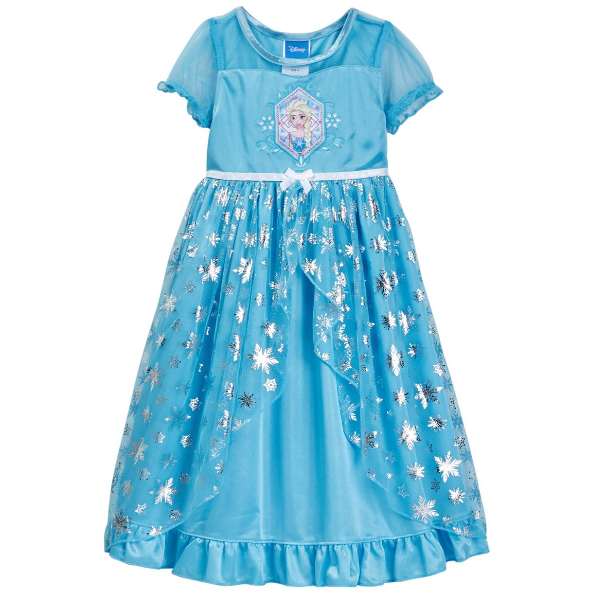 Disney Big Girls\' Frozen Elsa Fantasy Nightgown, Blue, 10 ...