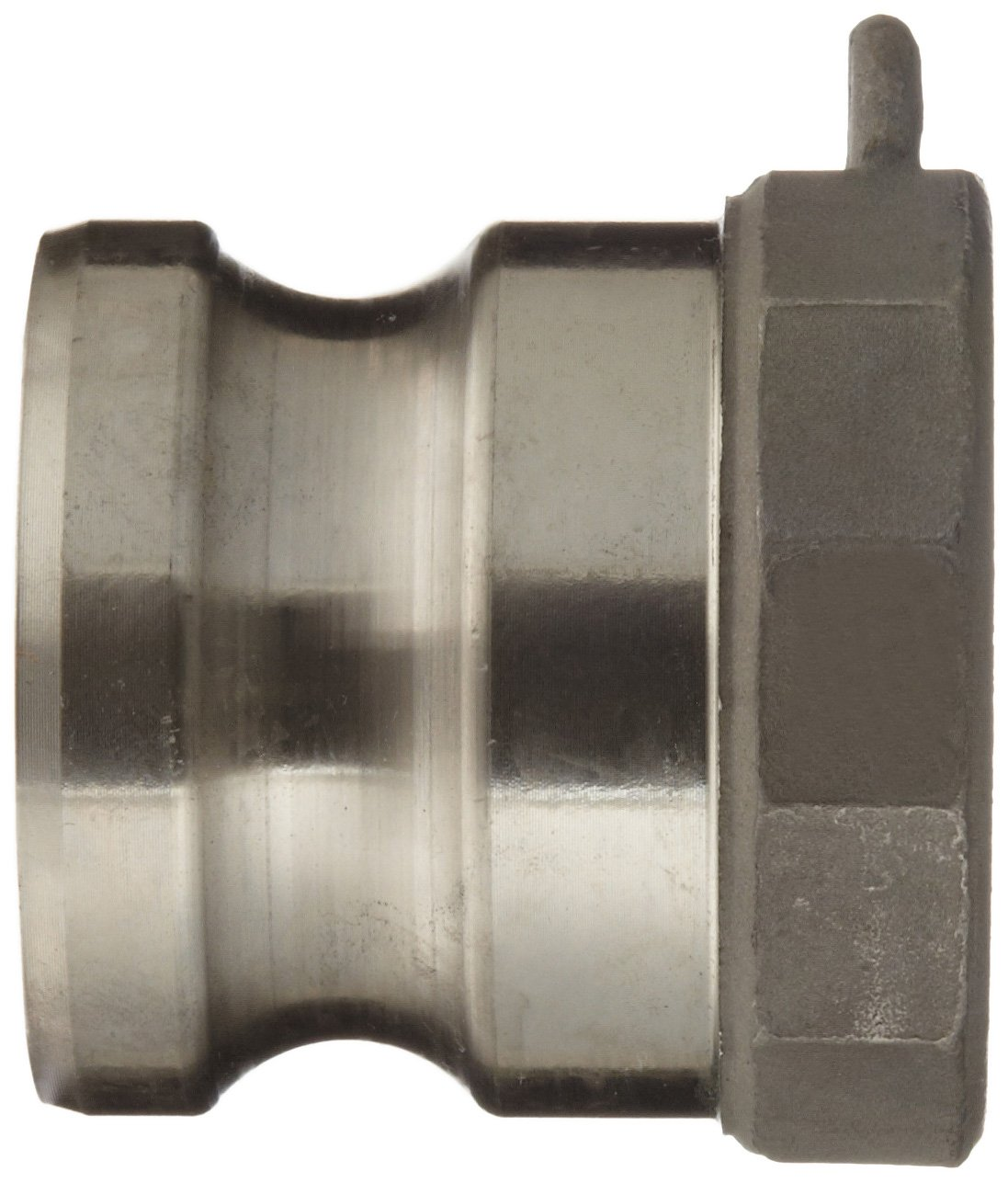 Dixon 600-A-SS Stainless Steel 316 Boss-Lock Type A Cam and Groove Hose Fitting 6 Plug x 6 NPT Female