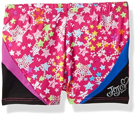 b9b3f5264 Jojo Siwa By Danskin Big Girls' Colorful Sparkle Gymnastics Short, Pink  Sparkle Stars,