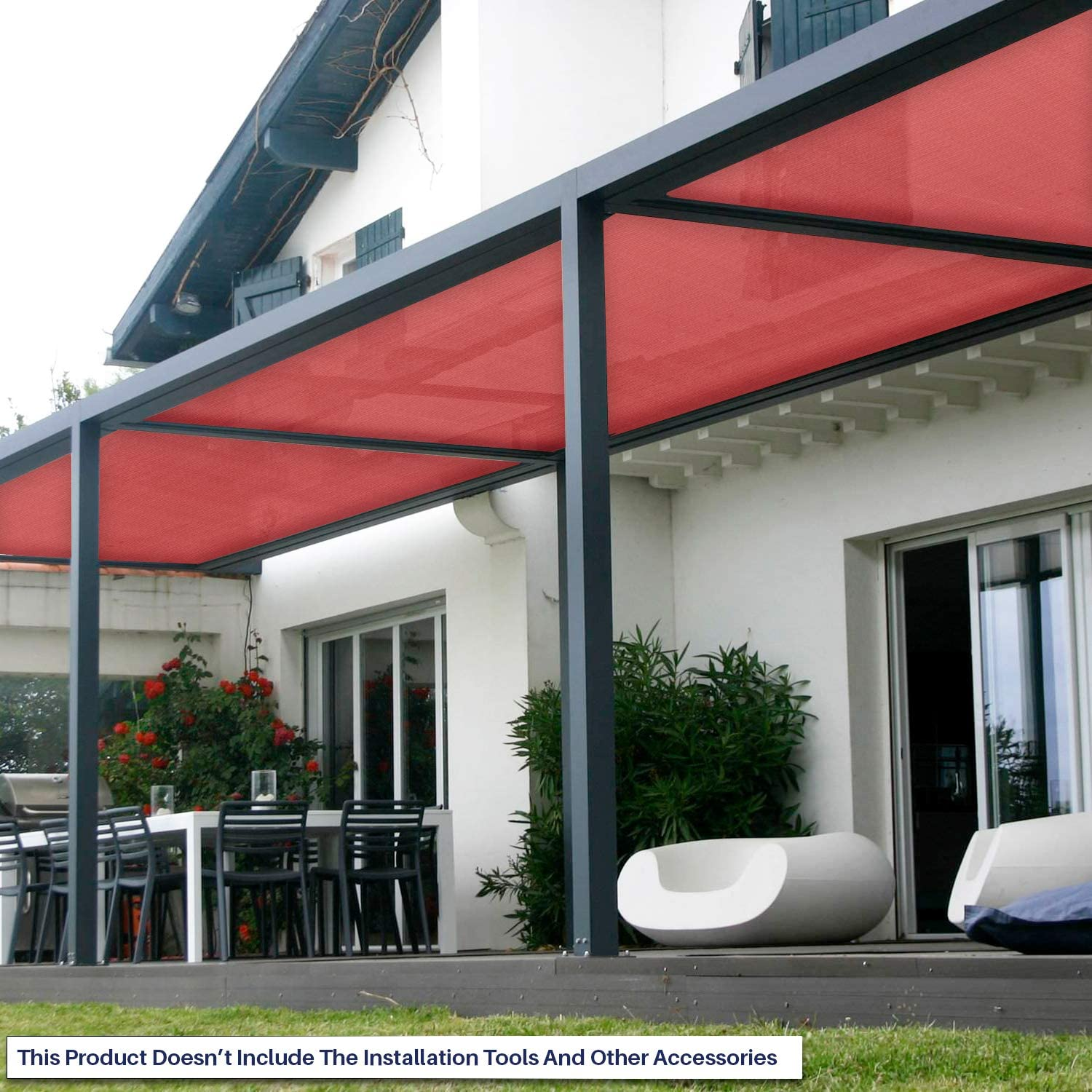 Windscreen4less bloqueador solar shade Cloth, 95% UV bloque Shade ...
