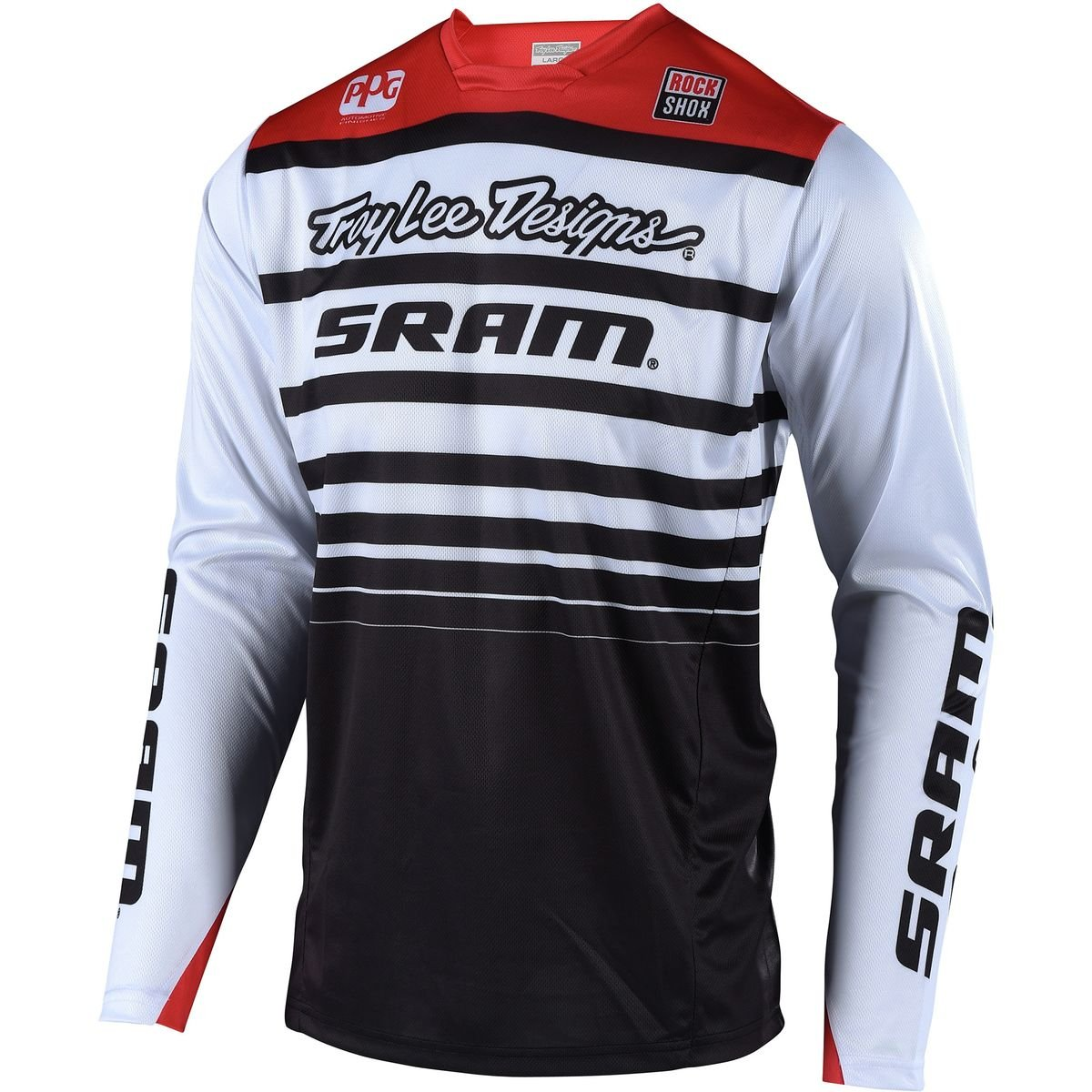 Troy Lee Designs Sprint Long-Sleeve Jersey - Men's Sram White/Black, XL