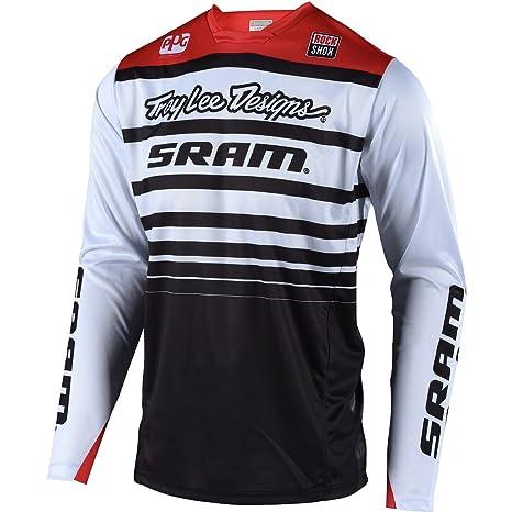 067384fdc Amazon.com  Troy Lee Designs Sprint Jersey - Men s Sram White Black ...
