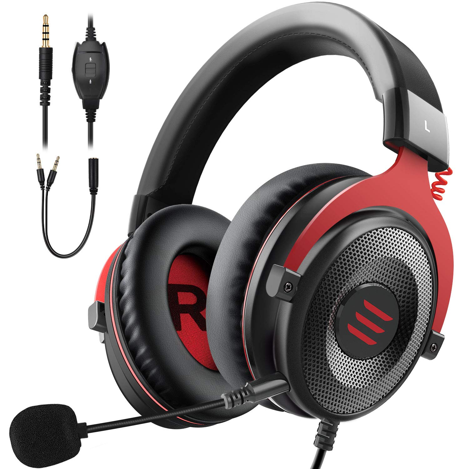 EKSA E900 Stereo Gaming Headset Xbox one Headset Wired Gaming Headphones with Noise Canceling Mic, Over Ear Headphones Compatible with PS4, Xbox One, Nintendo Switch, PC, Mac, Laptop