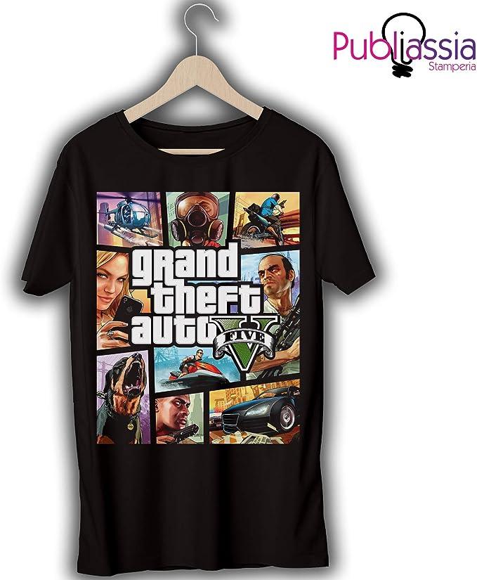 GTA 5 T-shirt maglietta 14 Grand Theft Auto vice city Trevor ps4 xbox regalo