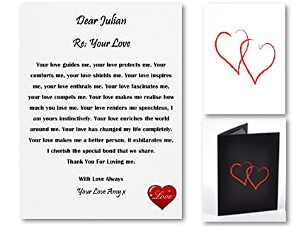 Love Letter To Your Wife.Pure Essence Greetings Personalised Love Letter Romantic