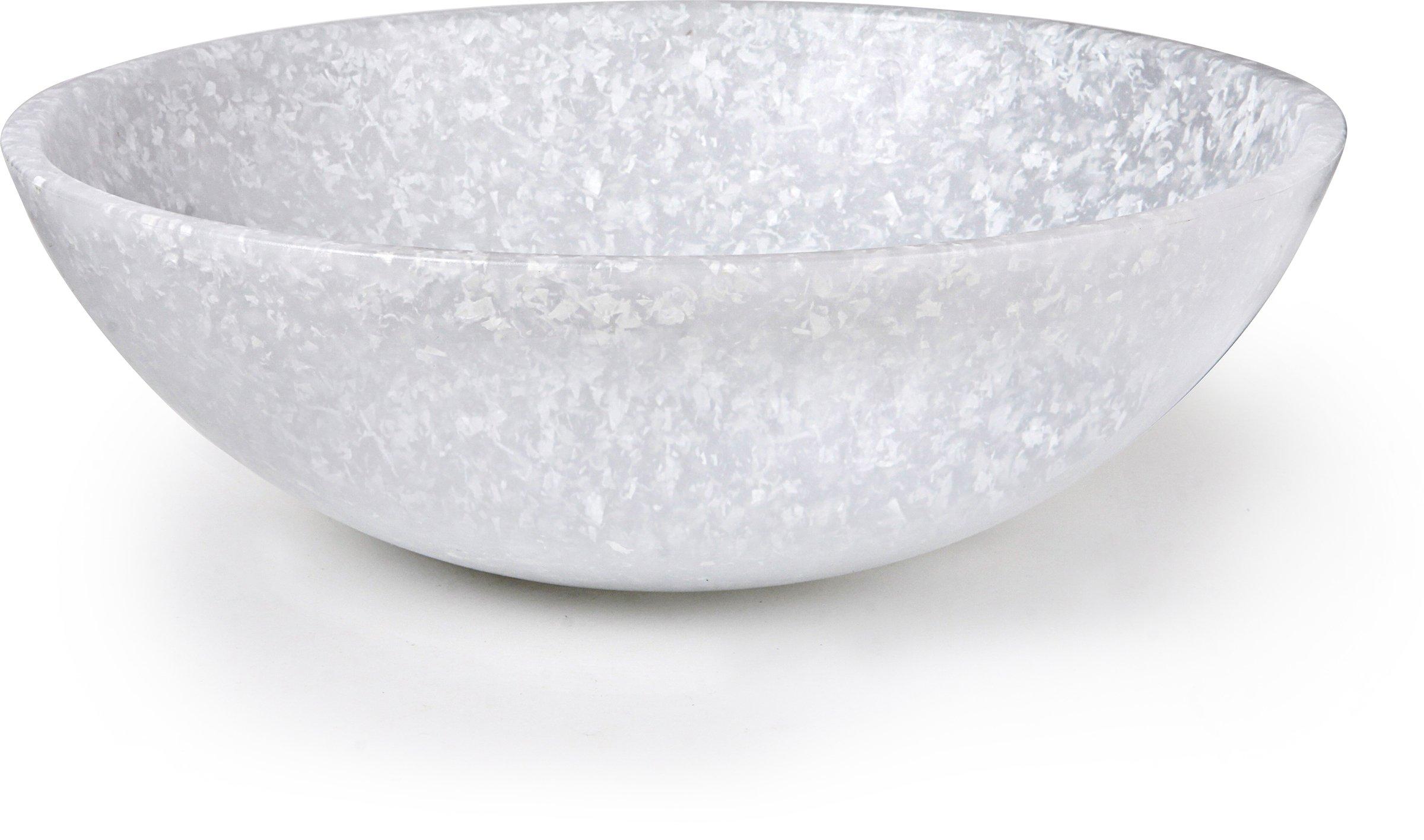 Dexas Jelli Plastic Salad Bowl, 13 Inch Diameter, Granite Pattern
