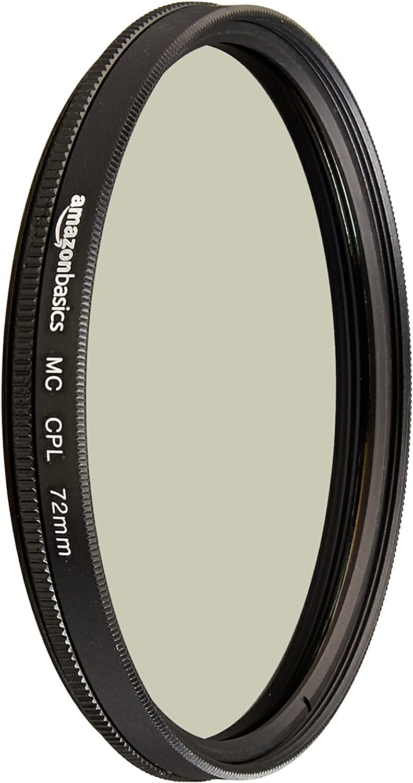 AmazonBasics Circular Polarizer Camera Photography Lens - 72 mm