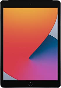 Unlocked Apple iPad 8 10.2 inches (2020) 32GB Space Gray (Renewed)