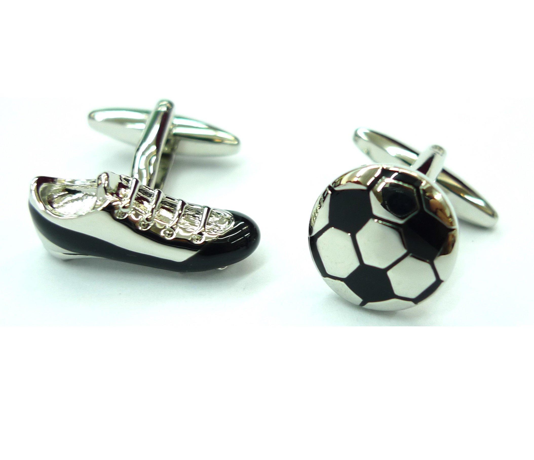 Tailor B Soccer Cufflinks Ball and Boot British Football World Cup Cuff Links