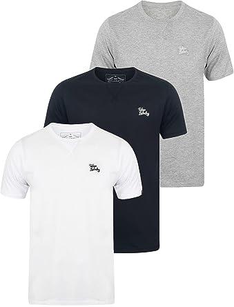 45576b1781 Tokyo Laundry Mens 3 Pack Plain Combed Cotton Tee T-Shirt Top Plain Mix  Colours  Amazon.co.uk  Clothing