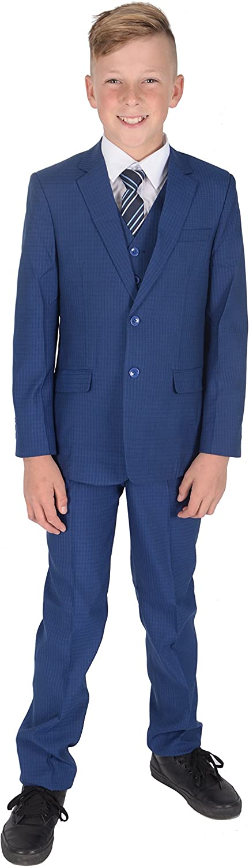 Cinda 5 St/ück Jungen blau Karierten Muster Anzug Party Prom