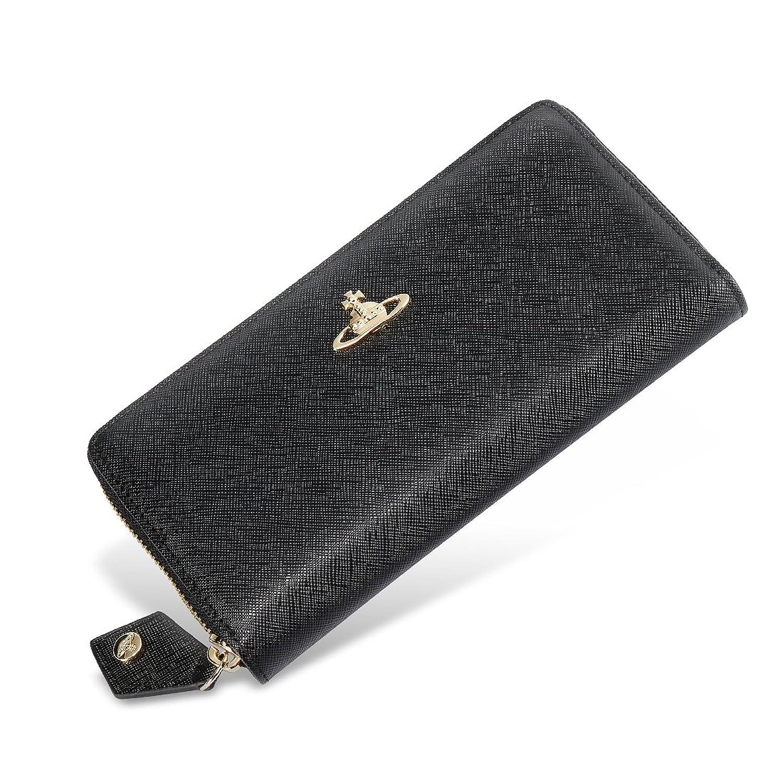 ヴィヴィアンウエストウッド 長財布 ヴィヴィアン Vivienne Westwood ラウンドファスナー財布 ブラック BLACK[並行輸入品] B07CK5W6NK