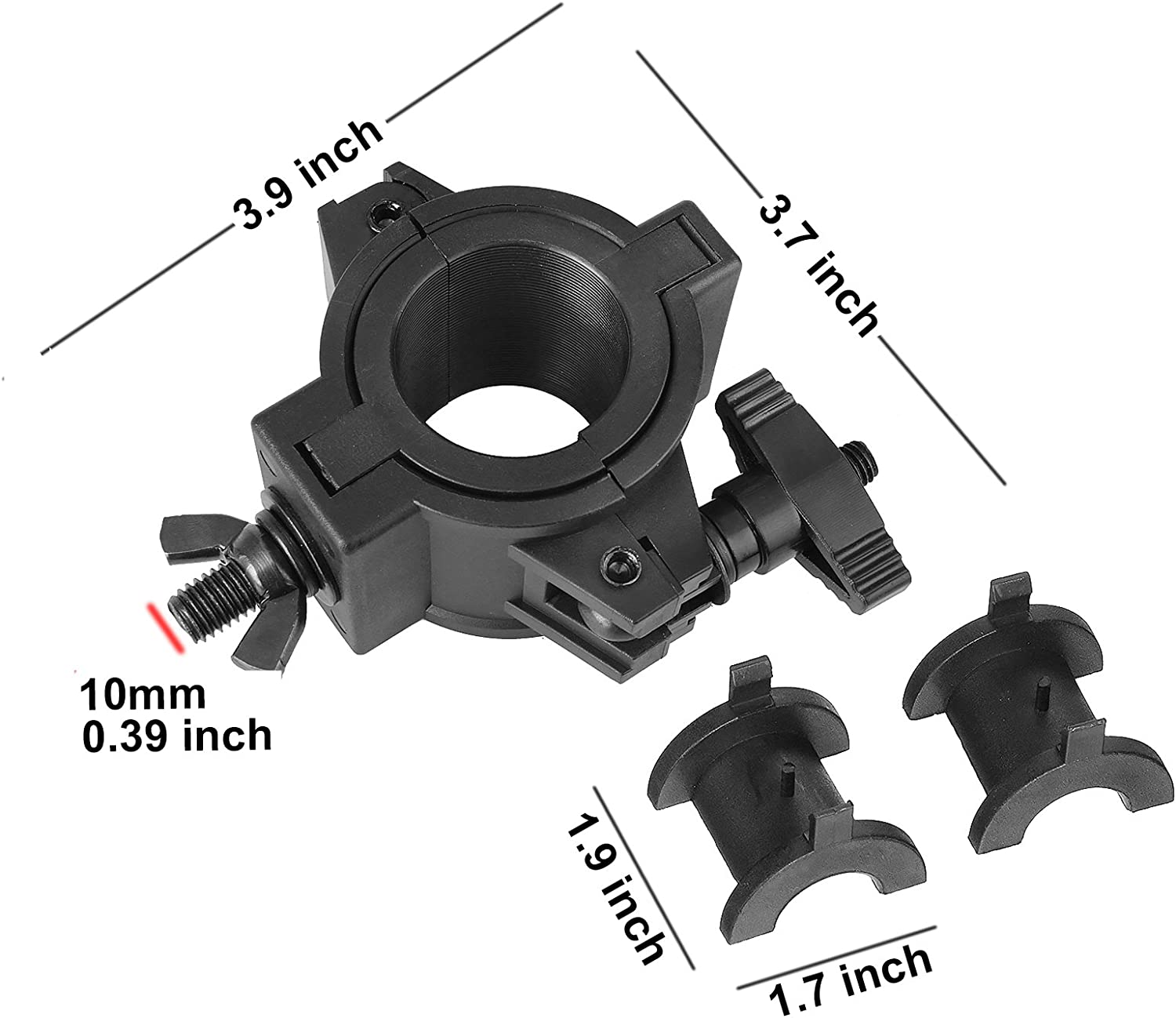 F24 F14 mountain ark 5 Pack 33lb Stage Light Clamps for DJ Lighting Products Par Light Plastic O Clamp Fit 3 Size Pipe Diameter: 25mm 48mm 36mm F34
