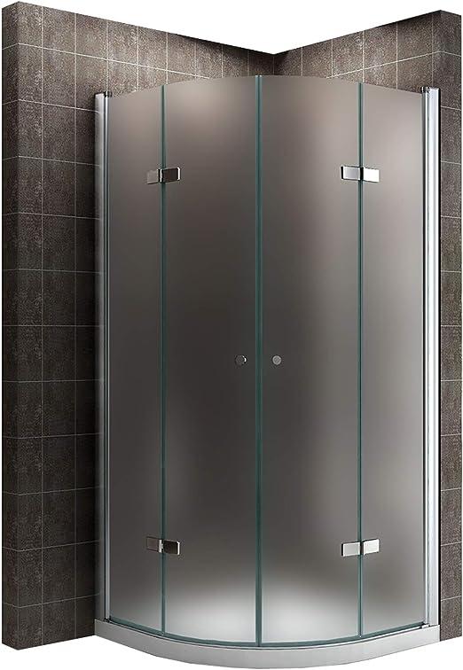 Satén limitada Cuadrante ducha plegable cabina de ducha de esquina (Mampara de ducha sin ducha bañera 90 cm x 90 cm # 825: Amazon.es: Bricolaje y herramientas