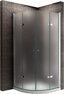 Satén limitada Cuadrante ducha plegable cabina de ducha de esquina ...