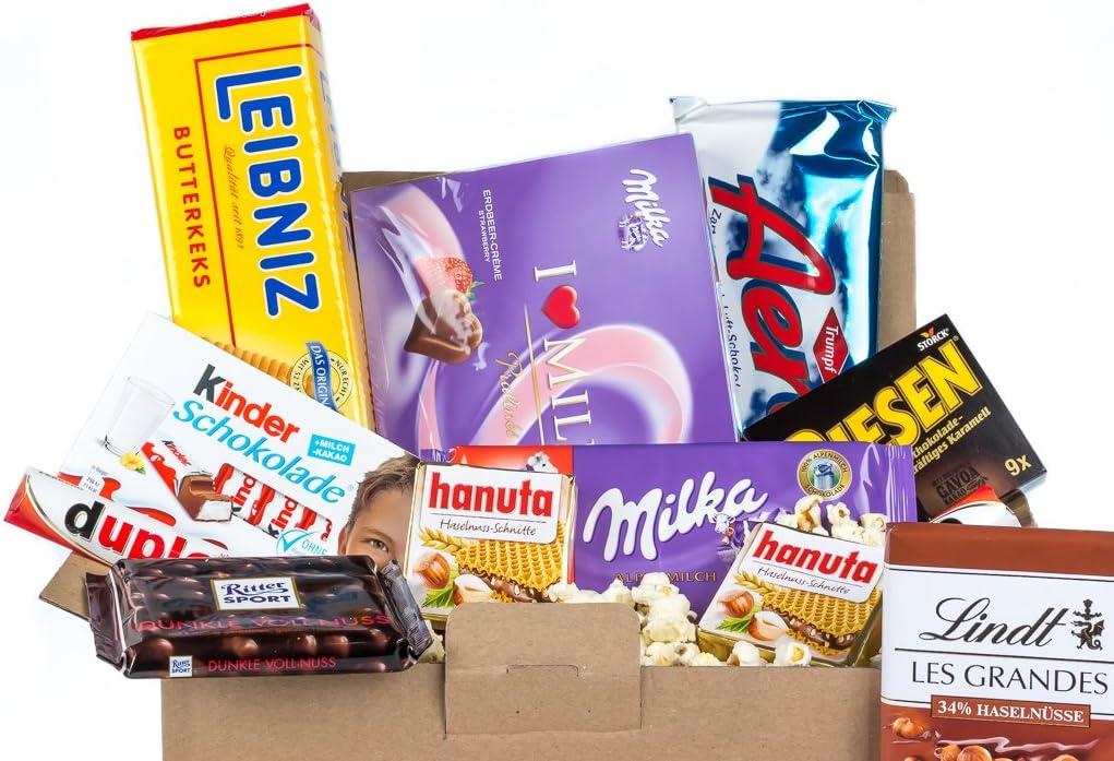 Caja de dulces y chocolates alemanes - Surtido n.º 2: Amazon.es: Alimentación y bebidas
