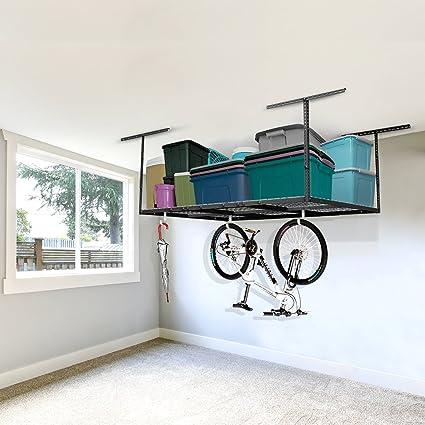 FLEXIMOUNTS 4x6 Heavy Duty Overhead Garage Adjustable Ceiling Storage Rack,  72u0026quot; Length X 48u0026quot