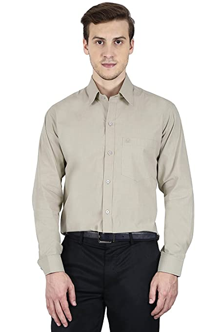 VERSATYL Full Sleeves 100% Cotton Slim Fit Shirts for Men (White Color) Perfect for Party, Business, Wedding, Work, Casual Formal Shirts at amazon