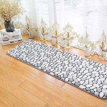 Teppich Badezimmer.Morbuy Hochflor Korallen Samt Shaggy Schmutzfangmatte Teppich Anti Rutsch Bequeme Badematte Badezimmer Teppich Super Saugfähiger Weicher