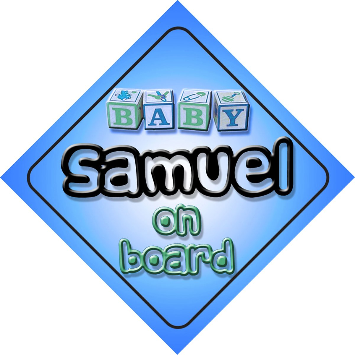 Three Boys On Board Car Sign New Baby//Child Gift//Present