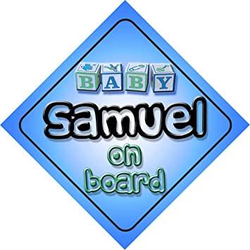 amazon baby boy samuel on board novelty car sign gift present