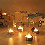 RONGT Spinning Winter Candle Holder - Rotating
