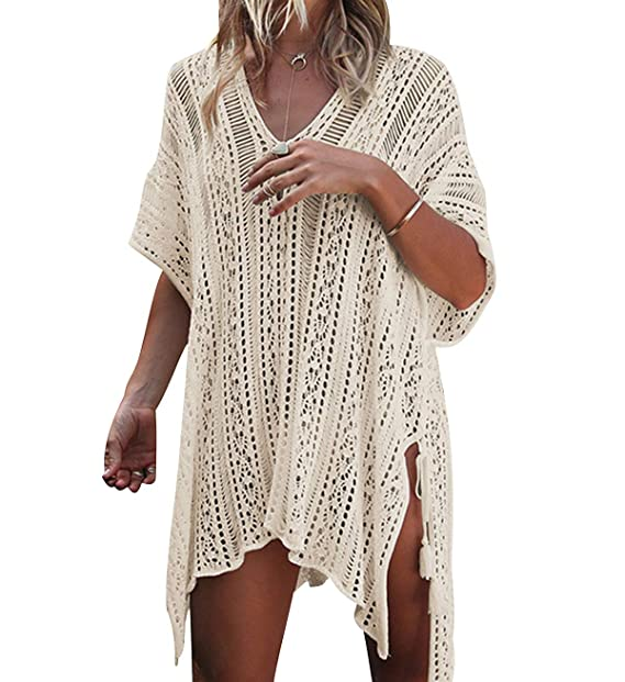 b58f0837c Vestido Ganchillo Playa Mujer Vestidos Pareos Playeros Kaftan Camisolas  Caftanes Tunica Playa Piscina Ropa de Baño