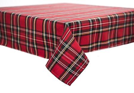 Tablecloth, Tablecloth, Table Runner, Napkin Black Watch Tartan Christmas 80  X 80 Cm