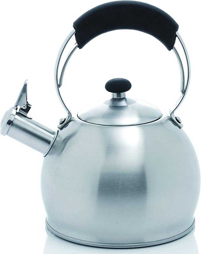 Creative Home Galaxy 2 6 Qt Stainless Steel Whistling Tea Kettle Teakettles Kitchen Dining
