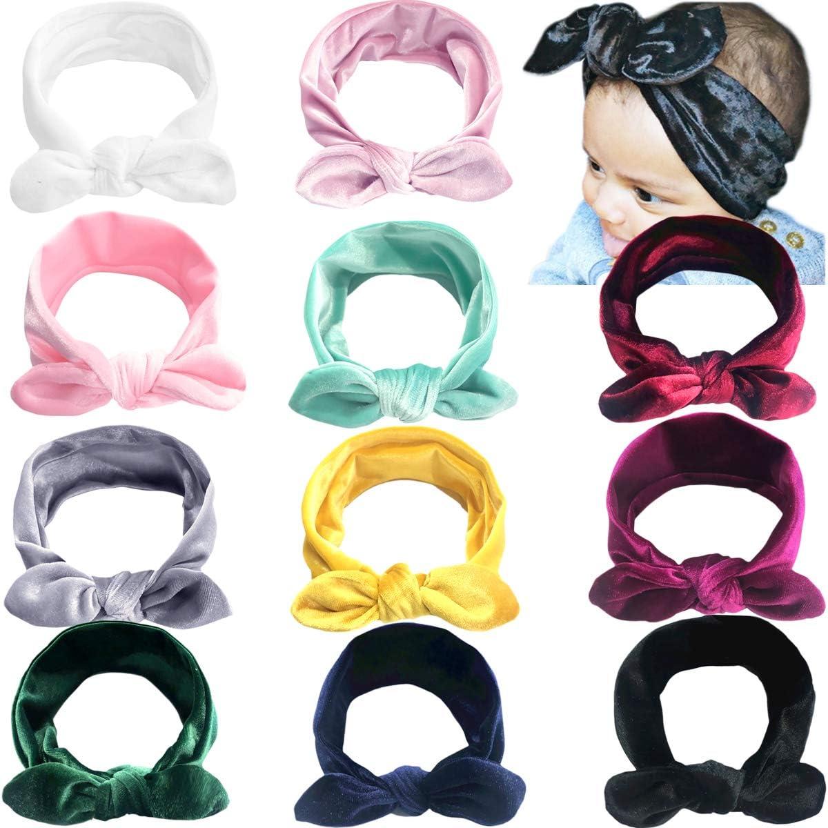 Small Velvet Baby Headband in light blue infant headbands crochet lace ivory cute pink baby headbands newborn headbands nylon headband