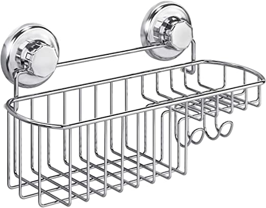 Stainless Steel Shower Caddy Hanging Shelf Bathroom Storage Organizer Chrome