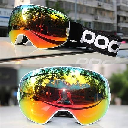 1f1a57de5a476 KUYGF POC Men Women Ski Goggles UV400 Lens Anti-Fog Skiing Snowboard  Glasses Mask Snow