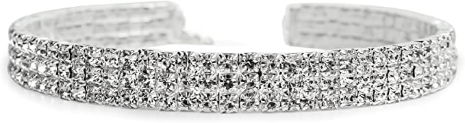 Rhinestone necklace Diamond choker silver choker rhinestone choker dainty choker rhinestone, diamond necklace