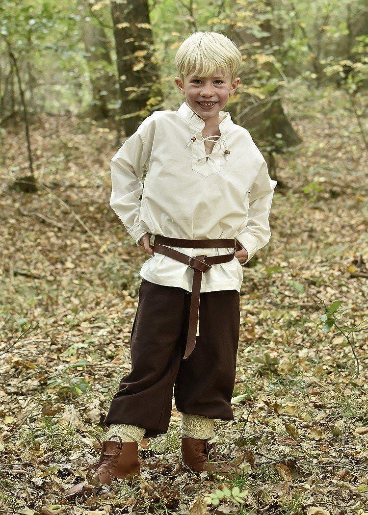 para Larp Vikingo como Caballero Diferentes Modelos Camisa Medieval Colin para ni/ño