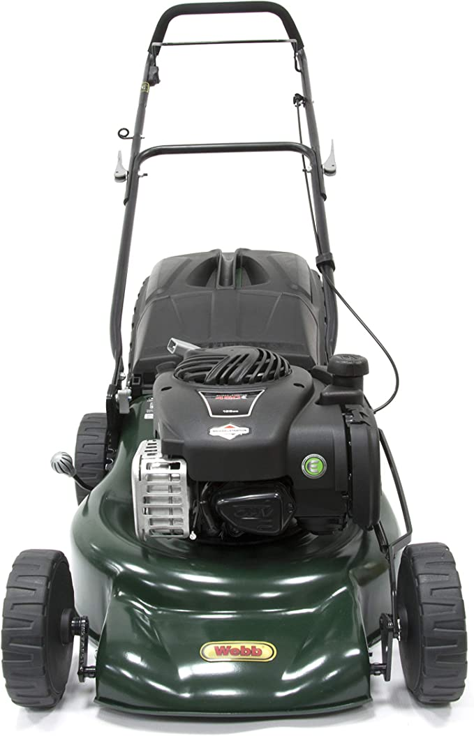 Webb Supreme WER18HP Hand Push Petrol Lawnmower - Best For Rough Terrains