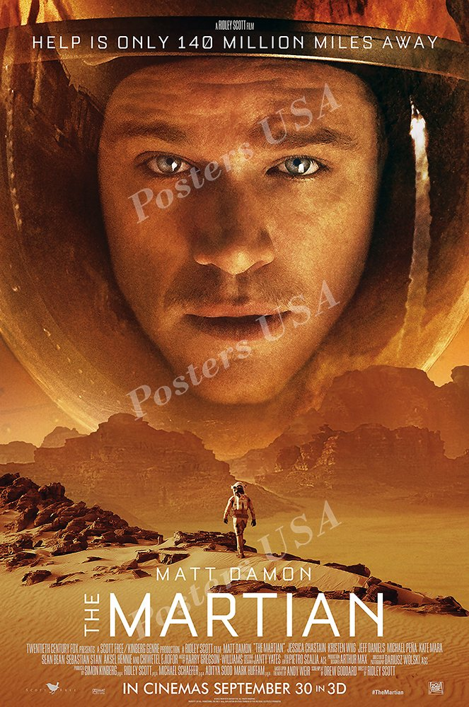 Posters USA - The Martian Movie Poster GLOSSY FINISH - MOV177 (24'' x 36'' (61cm x 91.5cm))