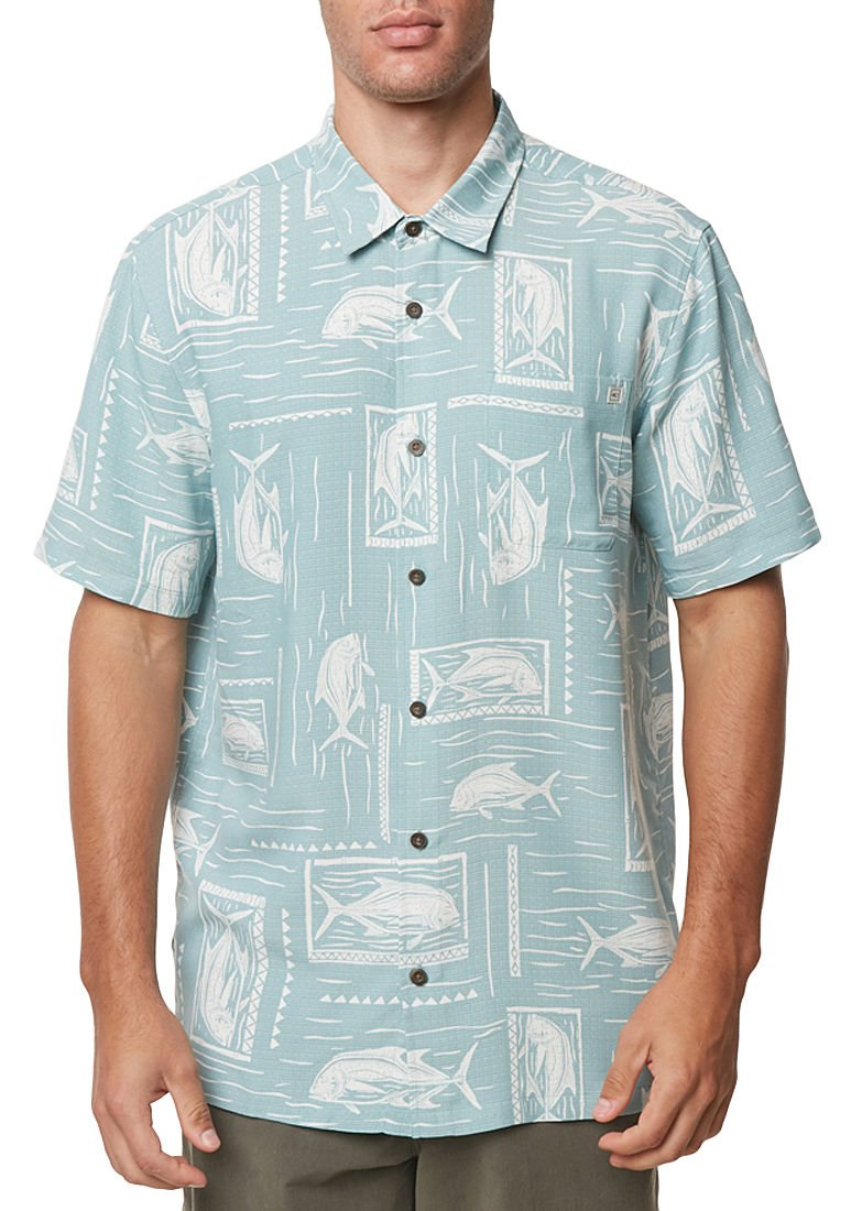 O'Neill Men's Jack Waters Shirts,Large,Sea Glass