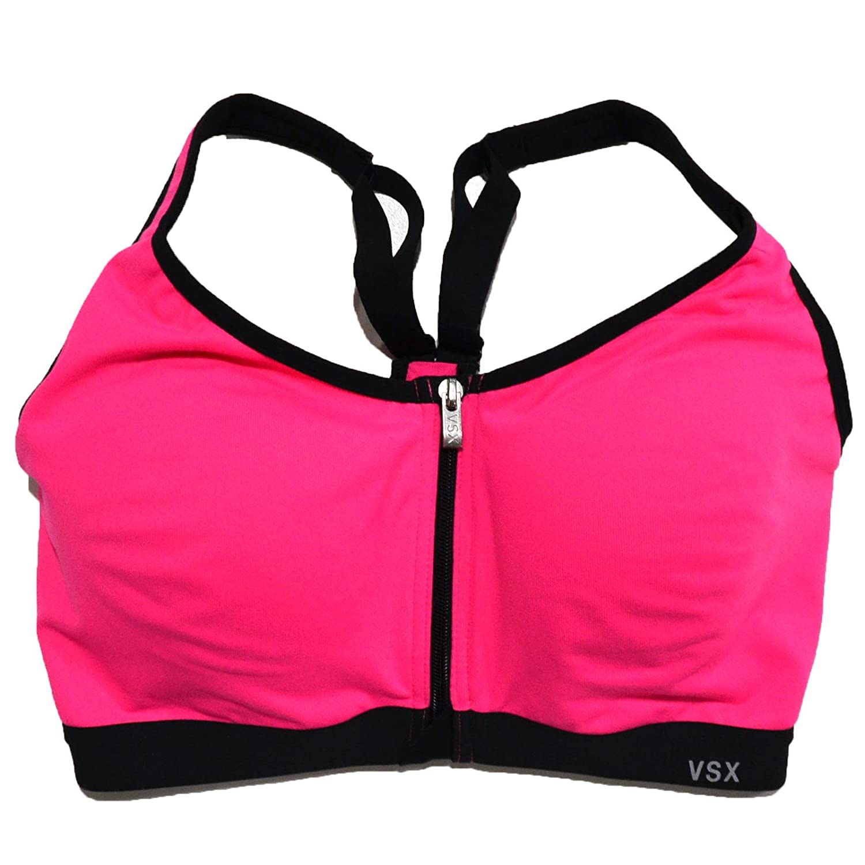 1b904fd2d7a2c Victoria's Secret VSX Knockout Front Close Underwire Sports Bra in Hot Pink