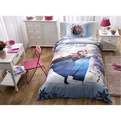Amazon.com: 100% Cotton Disney Frozen Elsa Duvet Cover Set Twin Size ...