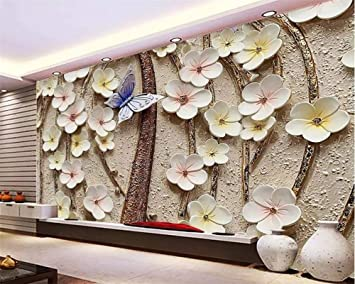 Buy Avikalp Exclusive Awz0264 3d Wallpaper 3d Flower Butterfly Tv Background Walls Home Decoration Living Room Bedroom Hd 3d Wallpaper 2 Ft X 3 Ft Online At Low Prices In India Amazon In