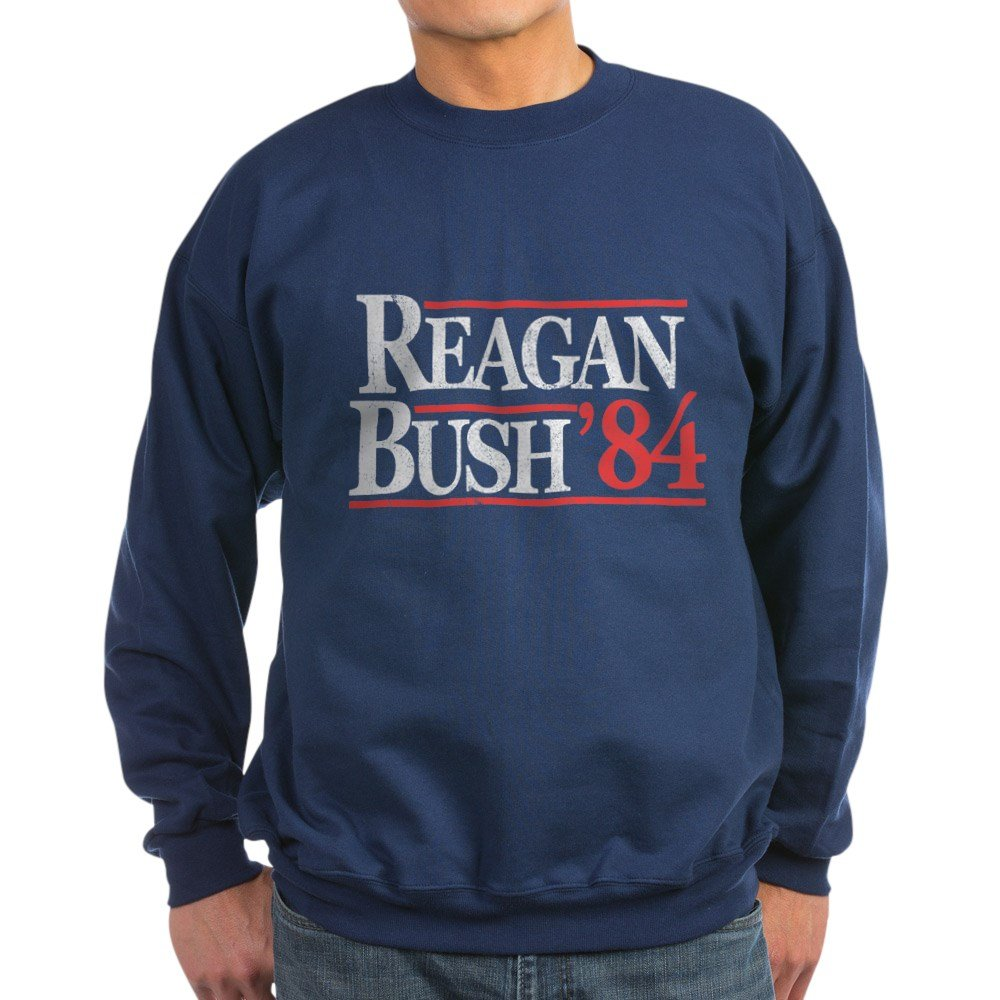 CafePress - Reagan Bush '84 Sweatshirt (Dark) - Classic Crew Neck Sweatshirt