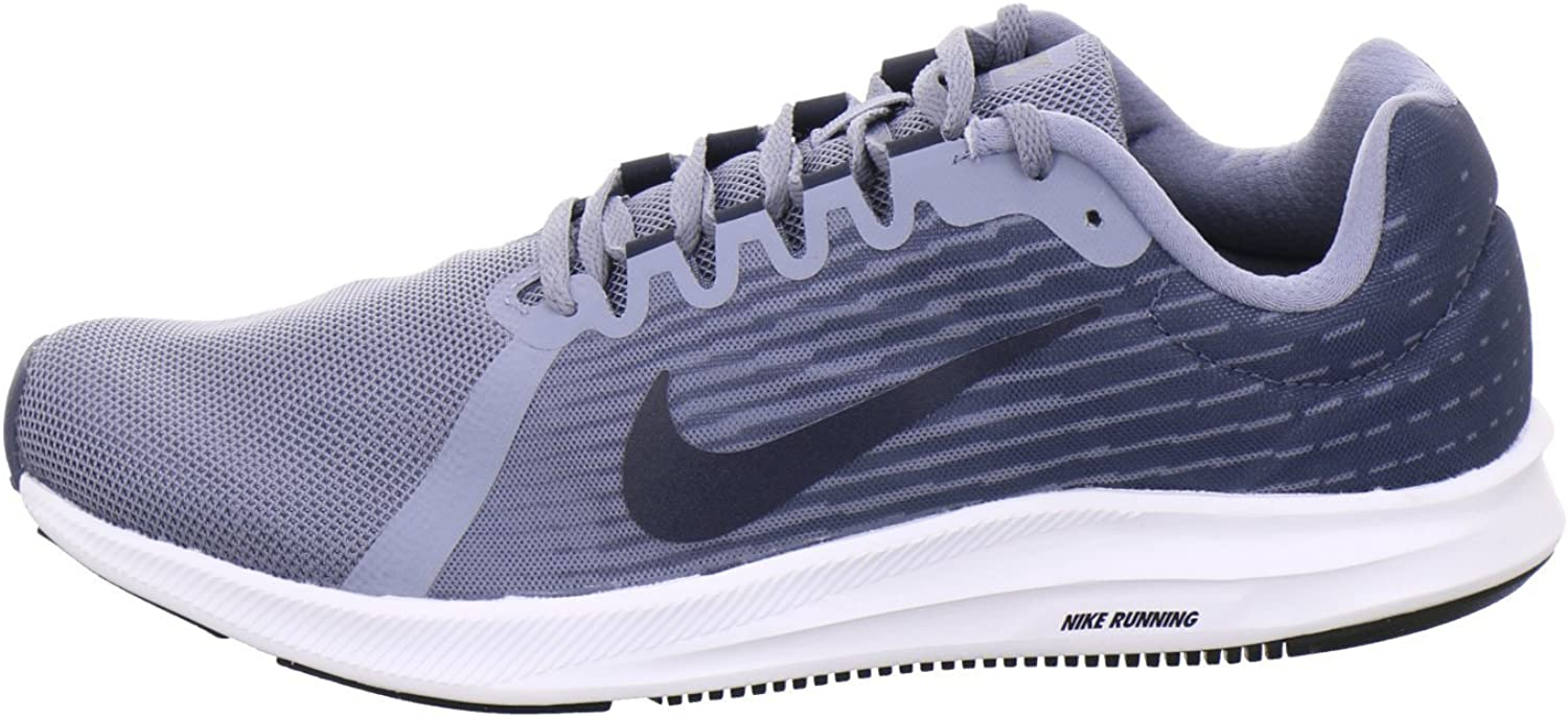 Nike Downshifter 8, Chaussures de Running Compétition Homme Multicolore Ashen Slate Obsidian Diffused Blue Black 402