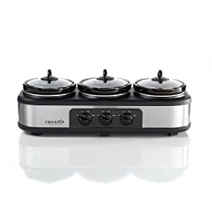 Crock-Pot Stainless Steel Trio Cook & Serve Slow Cooker & Food Warmer