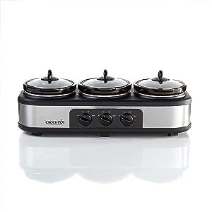 Crock-Pot Stainless Steel Trio Cook & Serve Slow Cooker & Food Warmer
