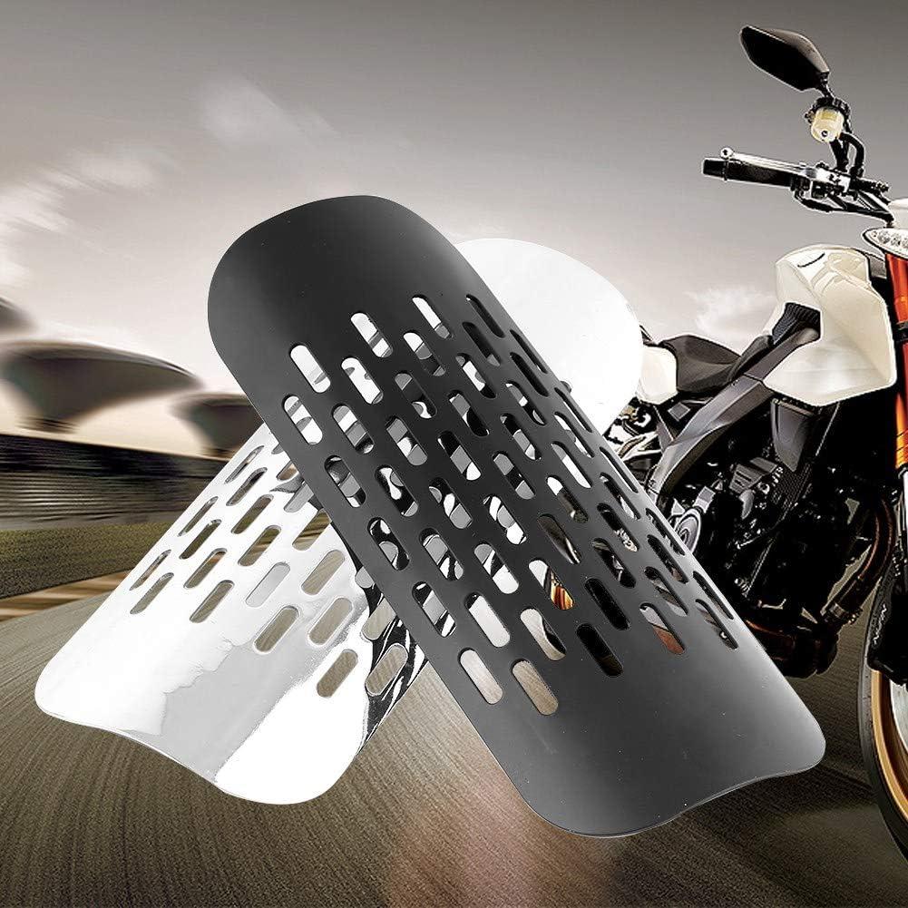 Negro Silenciador de escape Silenciador de escape Tubo de escape de la motocicleta Protector de calor de escape Cubierta del protector de calor Protector de calor de escape de la motocicleta